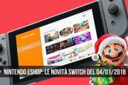 Nintendo eShop: i giochi Switch del 4 gennaio 2018
