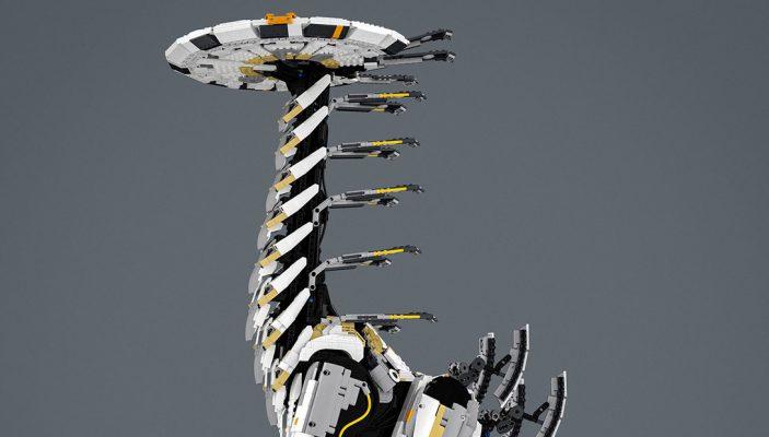 Il tallneck di Horizon Zero Dawn realizzato in LEGO