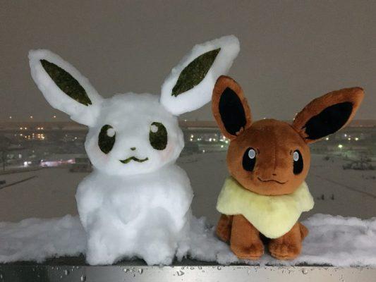 Le sculture di neve dei Pokémon sono semplicemente bellissime