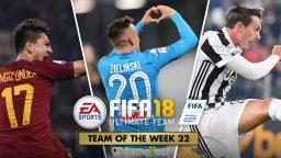 FIFA Ultimate Team – TOTW 22 – L'aggiornamento del 14 febbraio 2018