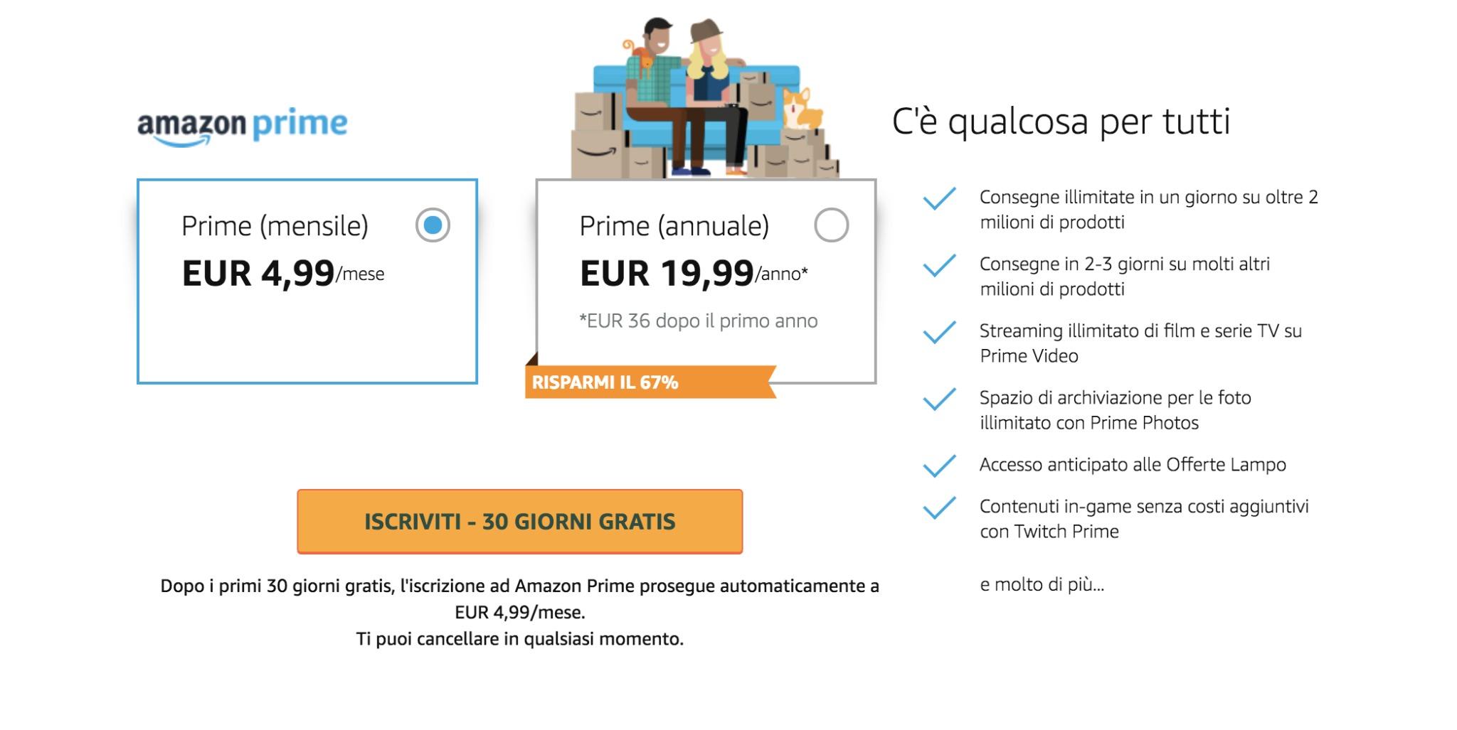 Amazon Prime Aumenta Il Costo Dell 39 Abbonamento In Italia