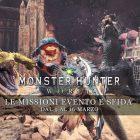 Monster Hunter: World – Le missioni evento e sfida dal 9 al 16 marzo