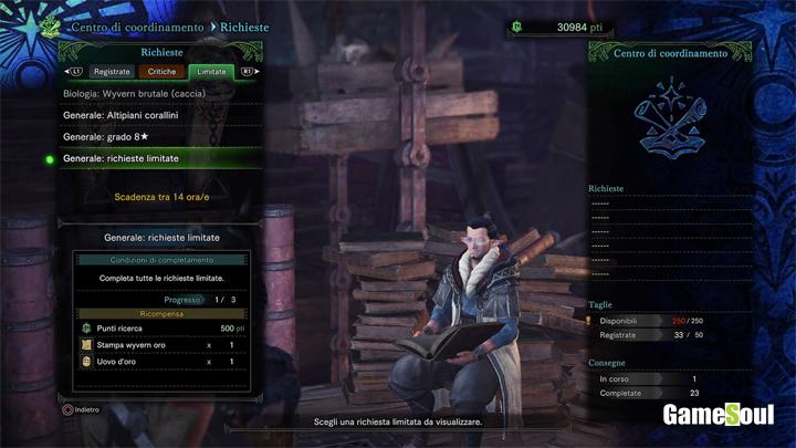 monster hunter world ottenere le gemme dall'alchimista