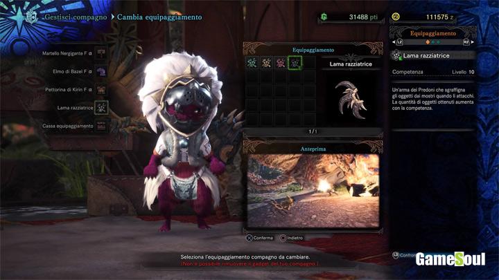 monster hunter world lama razziatrice gadget