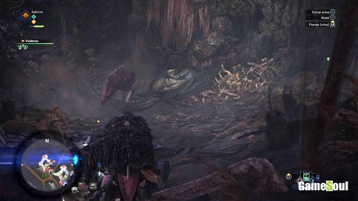 Monster Hunter World: ottenere la lama razziatrice, carcassa di legiana