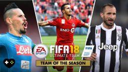 FIFA 18, solo i migliori si riuniscono nei Team of the Season