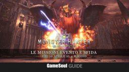 Monster Hunter: World – Le missioni evento e sfida dal 27 aprile al 4 maggio