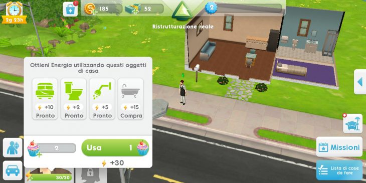 The Sims Mobile ricaricare energia