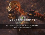 Monster Hunter: World – Le missioni evento e sfida dal 25 al 31 maggio