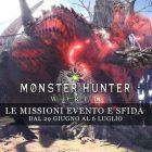 Monster Hunter: World – Le missioni evento e sfida dal 29 giugno al 6 luglio