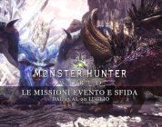 Monster Hunter: World – Le missioni evento e sfida dal 13 al 20 luglio