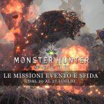 Monster Hunter: World – Le missioni evento e sfida dal 20 al 27 luglio
