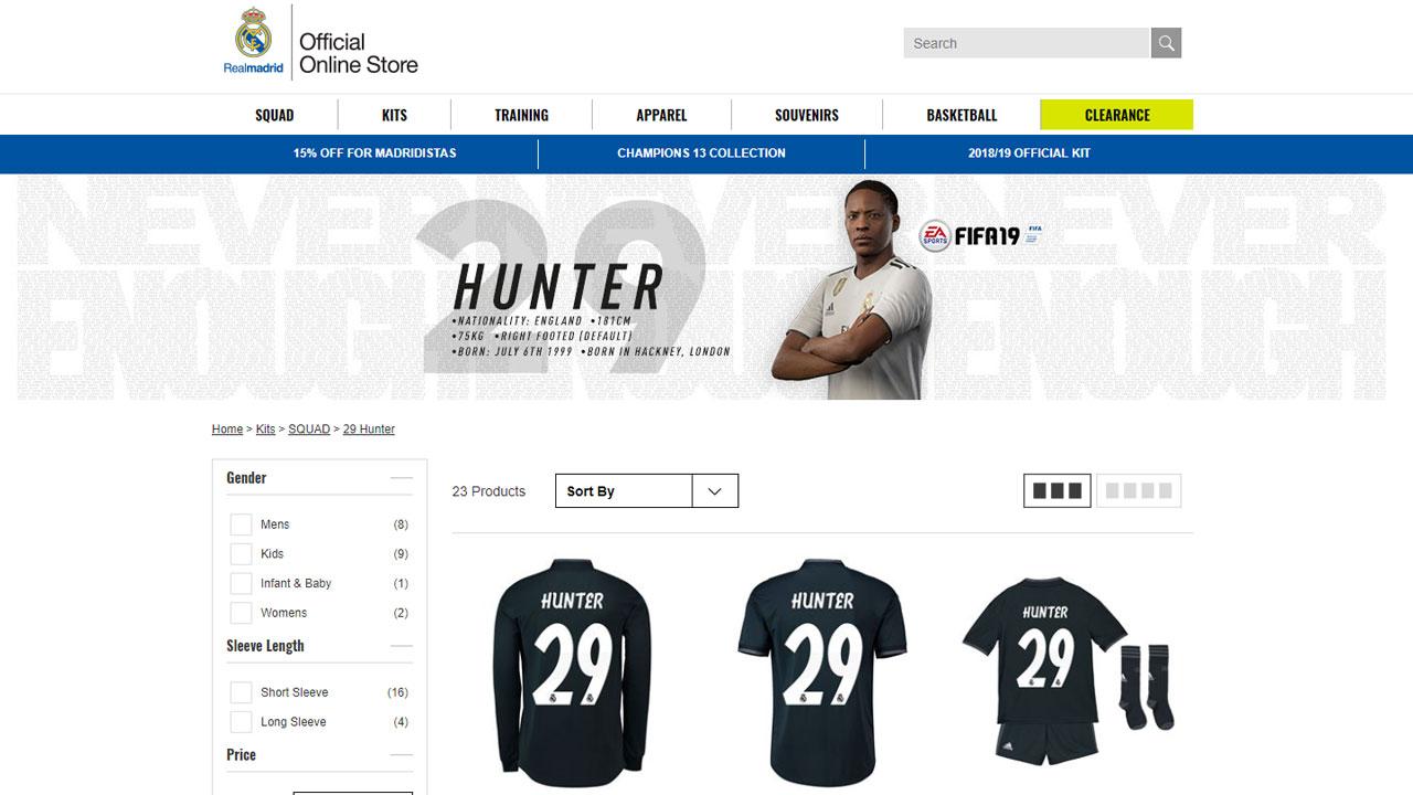 FIFA 19: il Real mette in vendita la maglia di Alex Hunter!