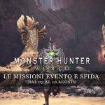 Monster Hunter: World – Le missioni evento e sfida dal 3 al 10 agosto