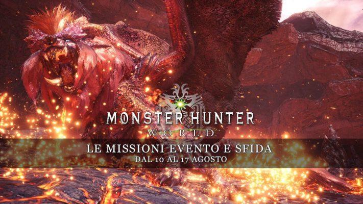 Monster Hunter: World – Le missioni evento e sfida dal 10 al 17 agosto
