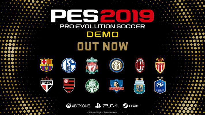 La demo di PES 2019 è disponibile su PS4, Xbox One e PC