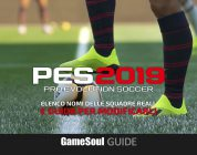 PES 2019 – Elenco nomi delle squadre reali e guida per modificarli