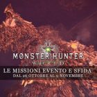 Monster Hunter: World – Le missioni evento e sfida dal 26 ottobre al 2 novembre
