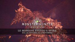 Monster Hunter: World – Le missioni evento e sfida dal 26 ottobre al 2 novembre