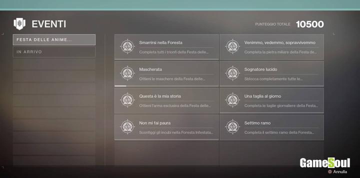 Destiny 2 - Guida ai trionfi dell'evento Festa delle Anime Perdute