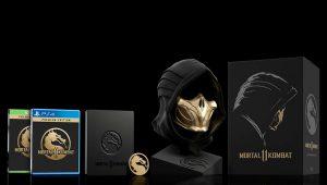 La maschera di Scorpion a grandezza naturale nella Kollector's Edition di Mortal Kombat 11