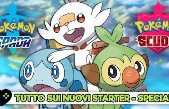 Gli starter di Pokémon Spada e Scudo visti da vicino