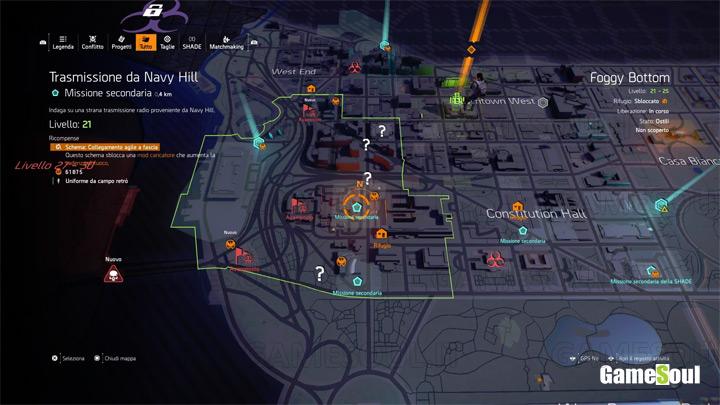Risultati immagini per the division 2 mappa per livelli