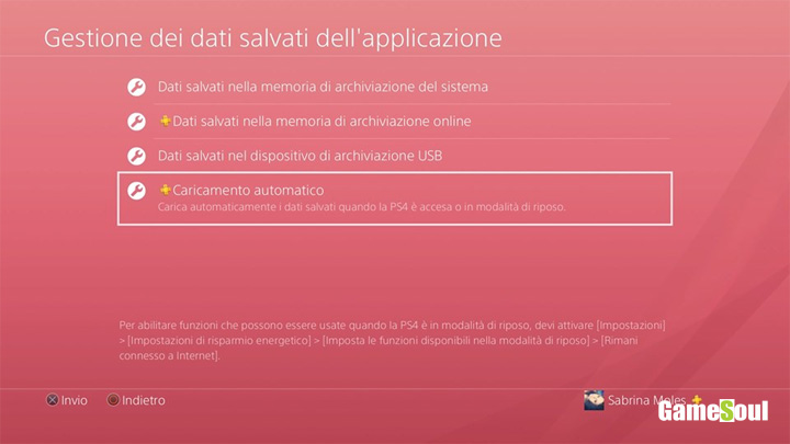 PS4, abilitare i salvataggi automatici online
