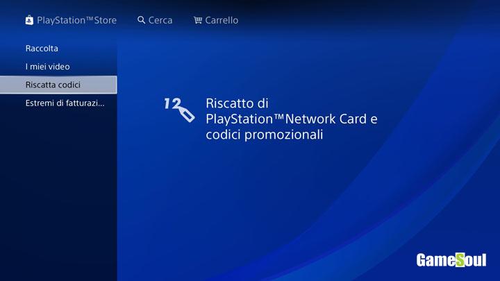 Riscattare un codice Playstation 4