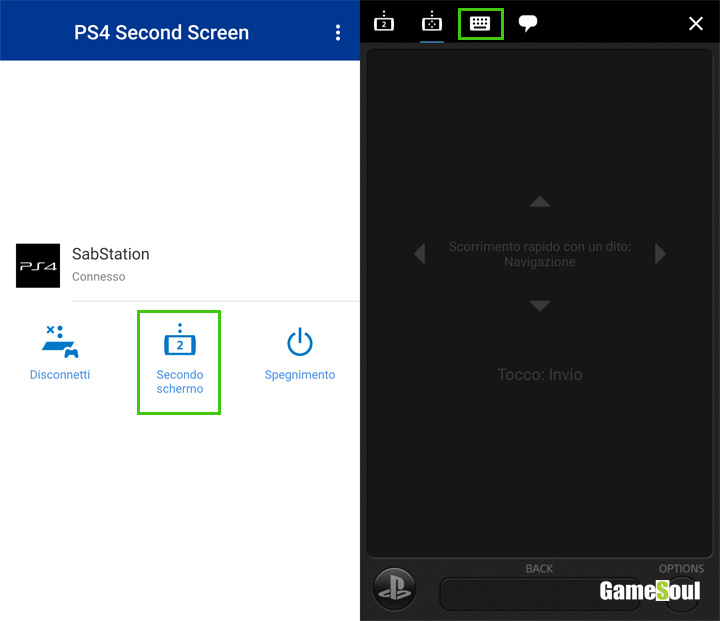 Second Screen di PS4