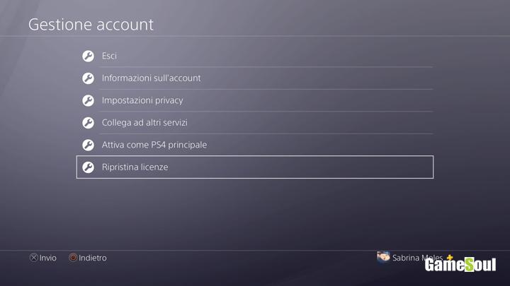 Come ripristinare le licenze su PS4