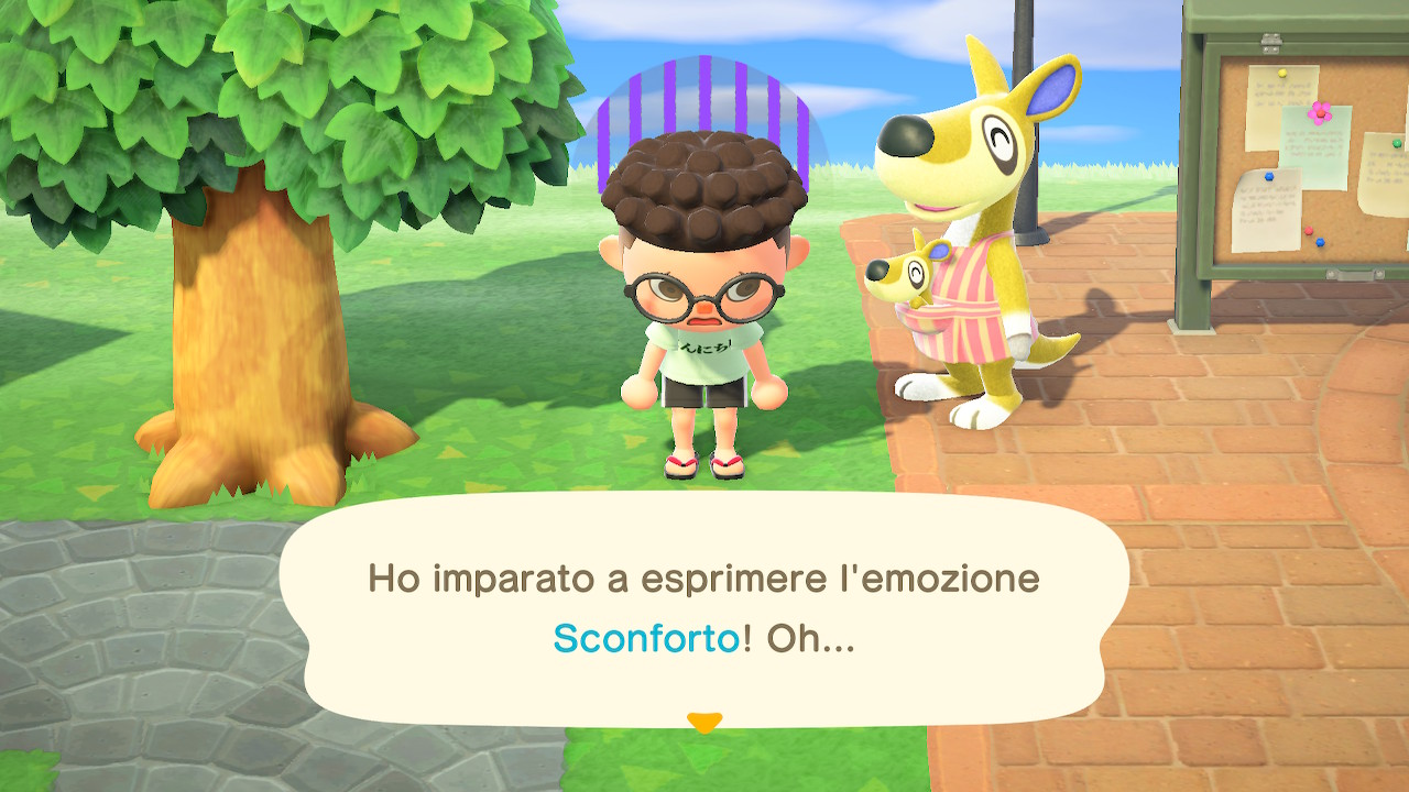 Animal Crossing New Horizons guida emozioni