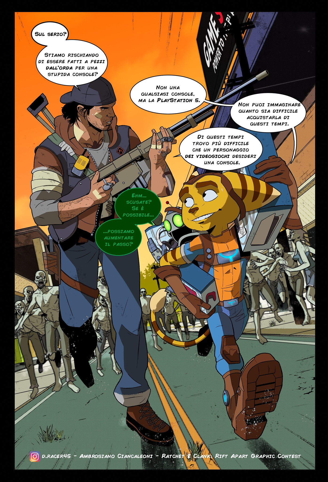 Premio PS5, Ambrosiano Ciancaleoni - Ratchet & Clank: Rift Apart Graphic Contest