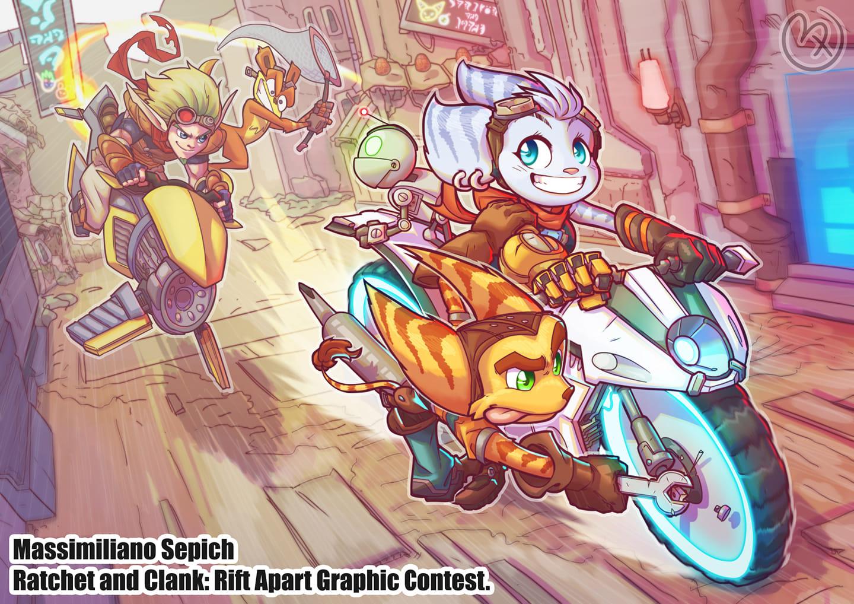 Primo premio Ratchet & Clank Rift Apart Graphic Contest